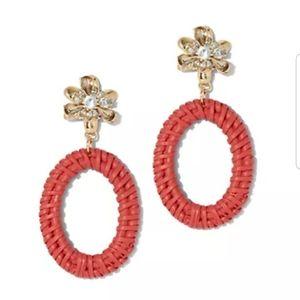 NY&C Beaded Hoop Drop Earrings
